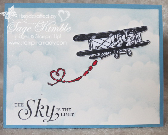 Design tips for handmade card using Sky is the Limit from Stamping Madly