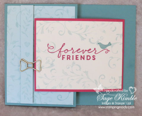 Joy Fold Friendship card from Stamping Madly using First Sight stamp set from Stampin' Up!