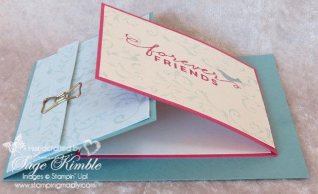 make a joy fold friendship card stamping madly