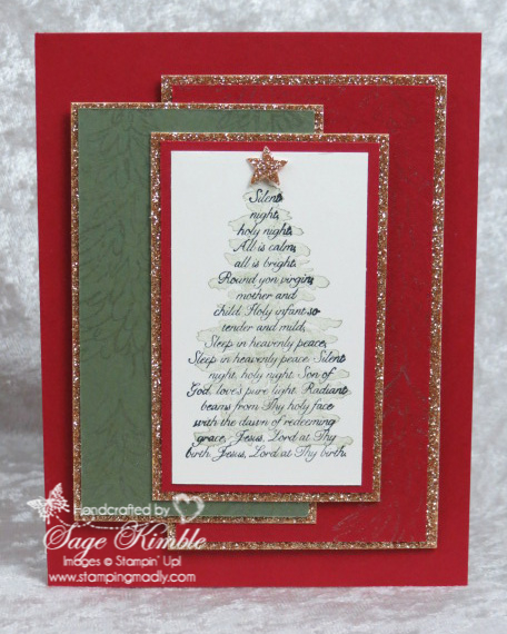 Evergreen Christmas Card from Stamping Madly