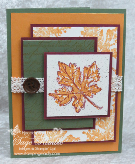 Gently Falling card from Stamping Madly