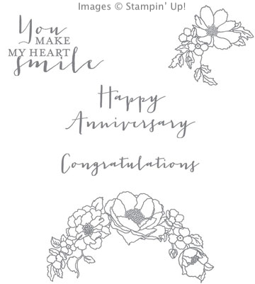 Timeless Love stamp set from Stampin' Up! available in wood or clear mount rubber stamps