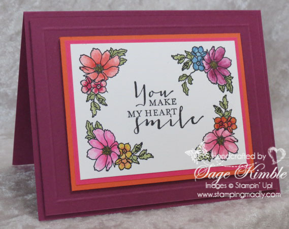 Handmade all occasions card from Stamping Madly using the Timeless Love Stamp Set
