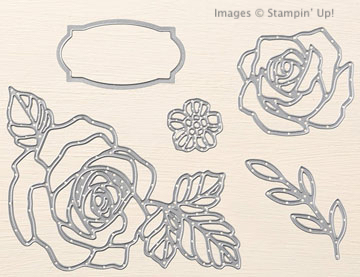 Click here to order Rose Garden Thinlits, 25% off through April 11 from Stampin' Up!
