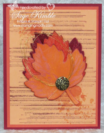 Handmade masculine card from Stamping Madly using Peekaboo Peach, a new In Color from Stampin' Up!