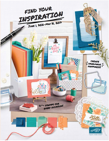 The new 2016 Annual Catalog from Stampin' Up!, full of cardmaking and paper crafting tools and supplies!