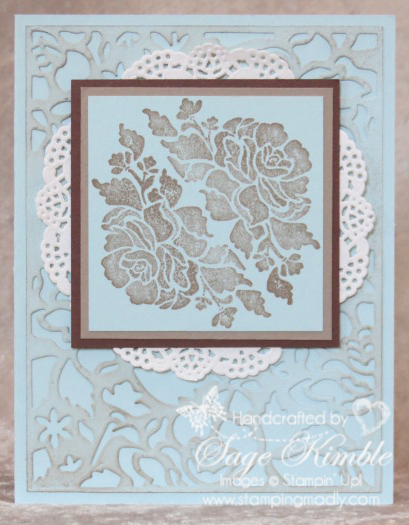 Elegant handmade card from Stamping Madly using the Floral Phrases Bundle from Stampin' Up!