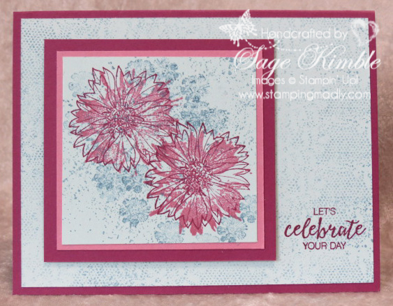 handmade birthday card from Stamping Madly using Touches of Texture stamp set from Stampin' Up!