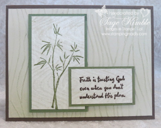 Handmade Sympathy Card from Stamping Madly, using Artistically Asian stamp set from Stampin' Up!