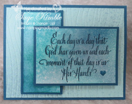 Handmade sympathy card from Stamping Madly