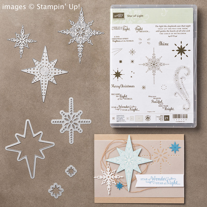 Star of Light stamp set and Starlight Thinlits Bundle from Stampin' Up!