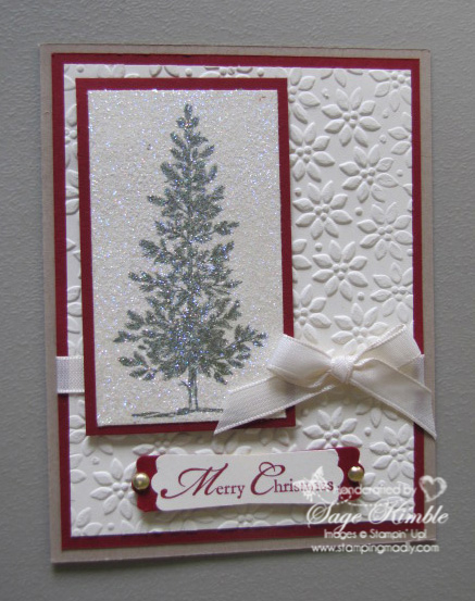 Lovely as a Tree Christmas Card from Stamping Madly