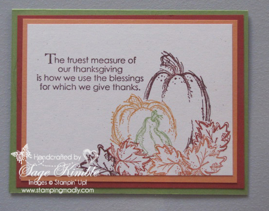 Thanksgiving Card from Stamping Madly using the Masked Images Technique