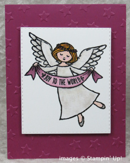 Handmade Angel Card for Christmas from Stamping Madly, using Wonder of Christmas stamp set from Stampin' Up!