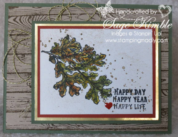 Birthday Card from Stamping Madly using Lovely as a Tree Stamp Set from Stampin' Up1