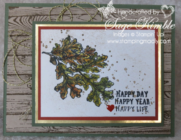 Lovely As A Tree Makes A Great Fall Birthday Card Stamping Madly
