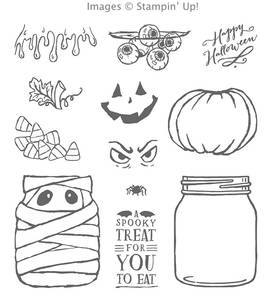 Jar of Haunts stamp set from Stampin' Up! for cute OR creepy Halloween projects!