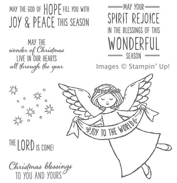 Wonder of Christmas rubber stamp set from Stampin' Up! available in wood or clear mount