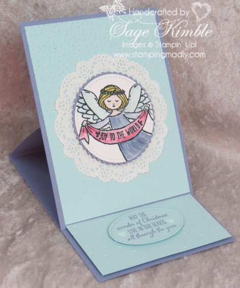 Wonder of Christmas Easel Card from Stamping Madly, with instructions