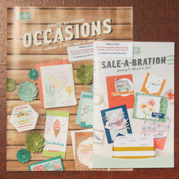 Request your free copis of the 2017 Occasions and Sale-a-Bration catalogs from Stampin' Up!