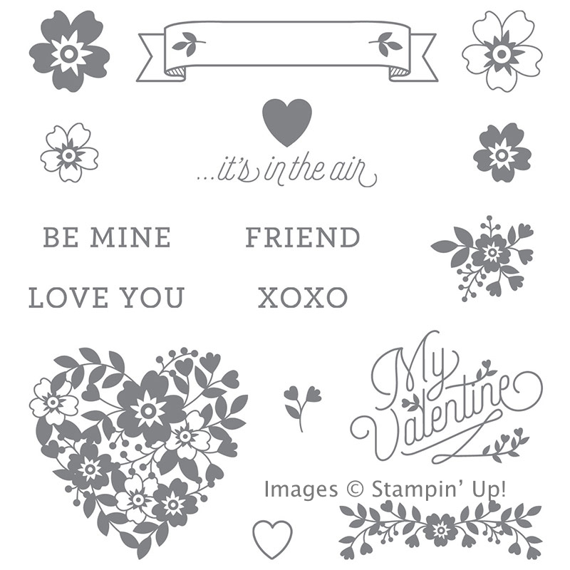 Order the Bloomin' Love Stamp Set from Stampin' Up! for awesome handmade Valentines!