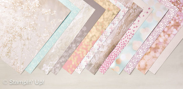 Click her to order the Falling in Love Designer Series Paper from Stampin' Up!