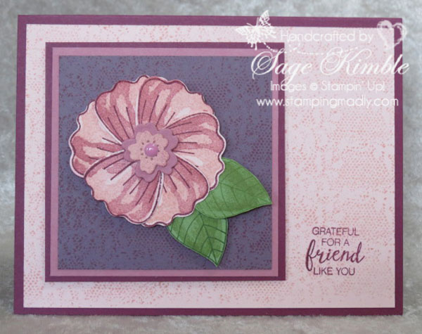 handmade card from Stamping Madly using Bunch of Blossoms Bundle from Stampin' Up!
