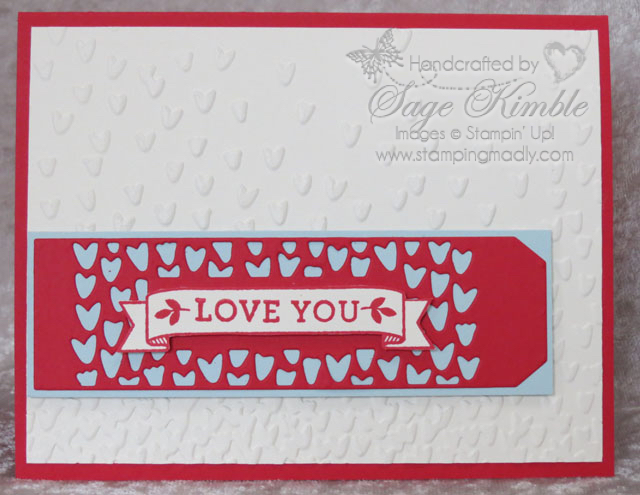 Subscribe to Stamping Madly Newsletter and get tutorial for handmade Valentine for a guy or gal