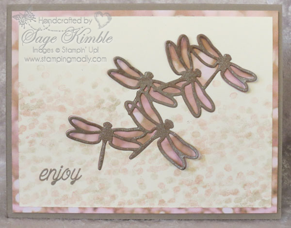 Handmade Dragonfly Dreams card from Stamping Madly
