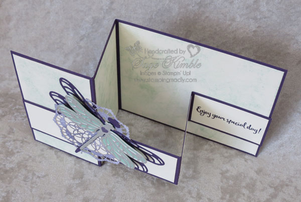 Double Z Fold Card from Stamping Madly using Dragonfly Dreams Bundle from Stampin' Up!