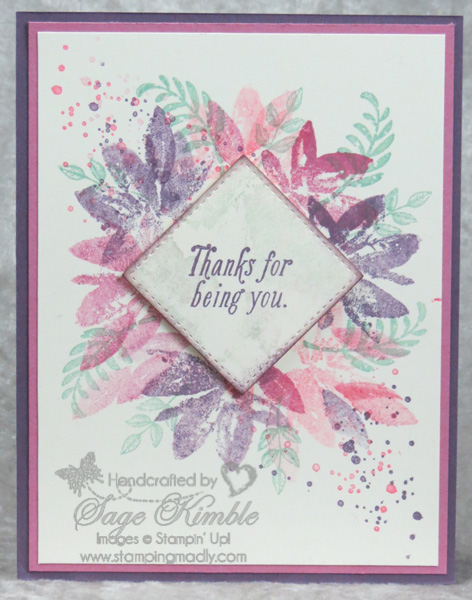 Handmade Card from Stamping Madly using Avant Garden Stamp Set from Stampin' Up!
