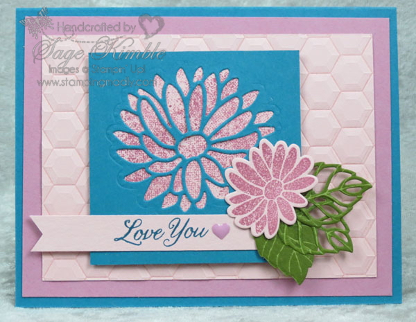 Cool colors in handmade card from Stamping Madly using Special Reason Bundle from Stampin' Up!