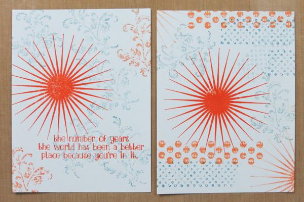 Handmade Card Designing-practice pieces