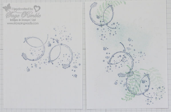 Practice pieces of abstract backgrounds for handmade cards