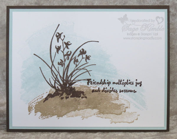 handmade card from Stamping Madly with Work of Art and Artistically Asian from Stampin' Up!
