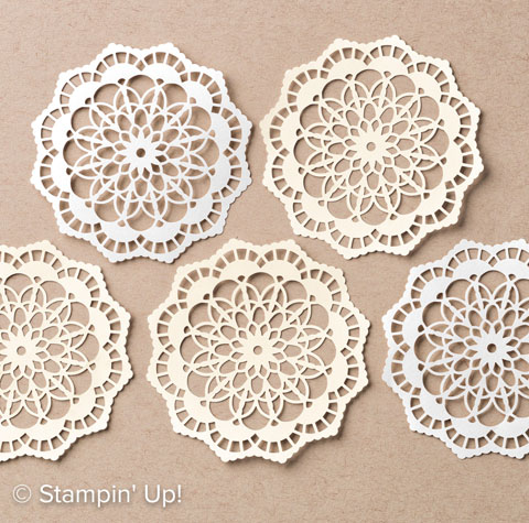 Retiring Stampin' Up! Product Lace Doilies are low inventory and will sell out soon