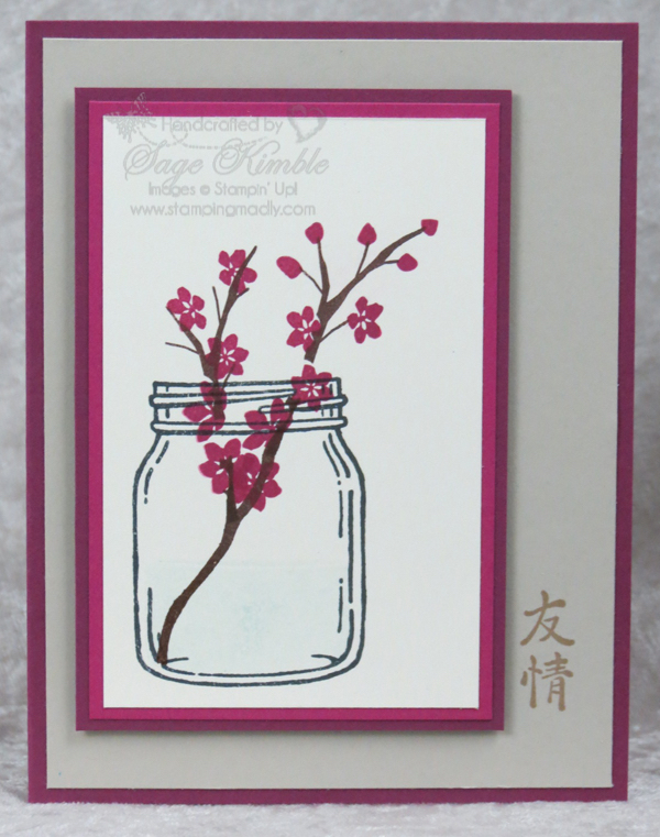 Handmade card using Jar of Love and Colorful Seasons from Stamping Madly
