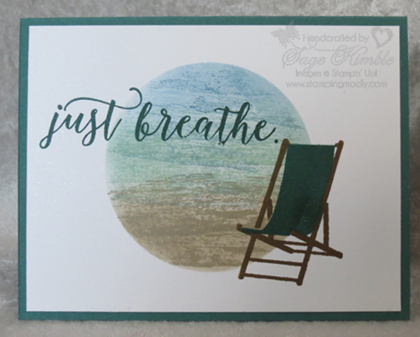 """beach scene"" background technique video for Stamping Madly Newsletter Subscribers"