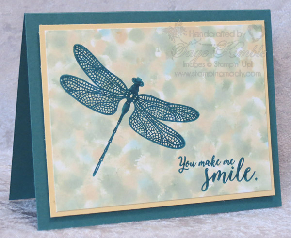 Dragonfly Dreams Stamp Set and Polished Stone Technique