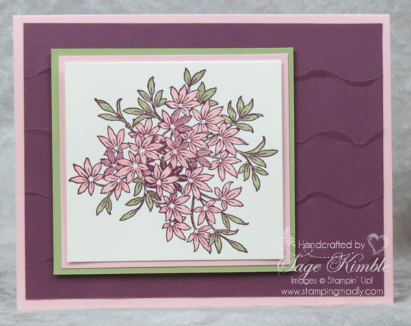 Awesomely Artistic and Ruffles Dynamic Embossing Folder used in handmade card from Stamping Madly