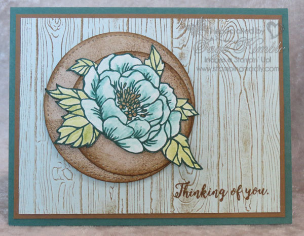 Handmade card for any occasion using Birthday Blooms and Pine Planks
