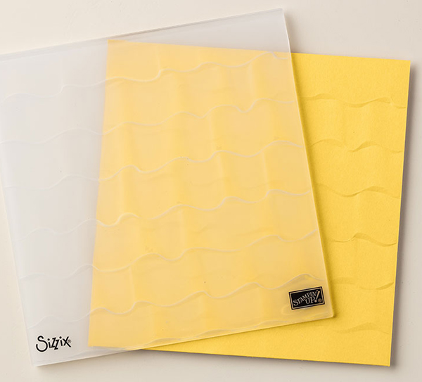Ruffles Dynamic Embossing Folder from Stampin' Up! for a soft and elegant background in your handmade cards