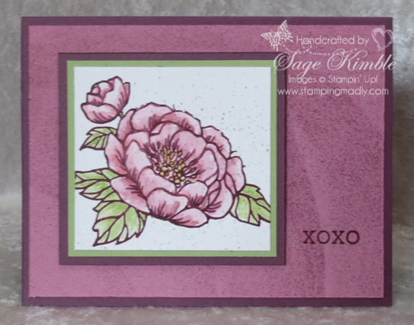 Watercolored Birthday Blooms stamp for all occasions card