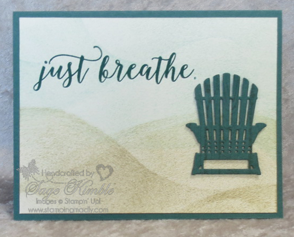 Tutorial for Just Breathe Card for Newsletter Subscribers