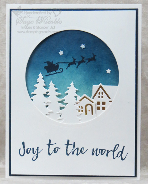 Handmade Christmas Card from Stamping Madly with Hearts Come Home Bundle
