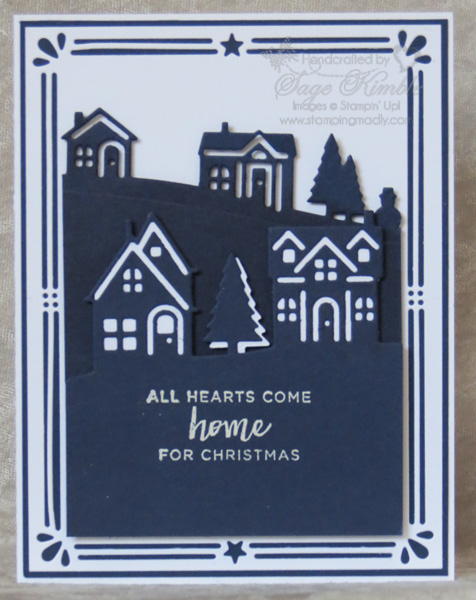 Handmade Card: Hearts Come Home for Christmas from Stamping Madly