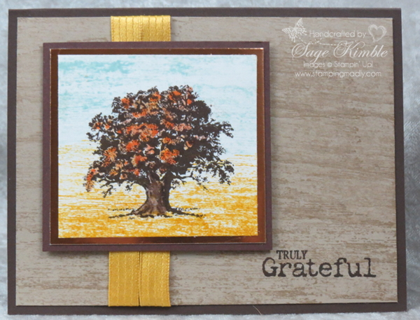 Masculine Fall Card with Lovely as a Tree stamp set