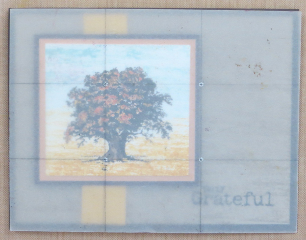 Rule of Thirds grid on Lovely as a Tree fall card