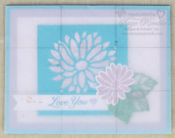 Rule of Thirds grid on Special Reason Card from Stamping Madly