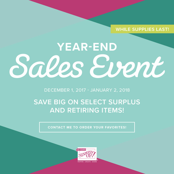 Year End Sale from Stampin' Up!